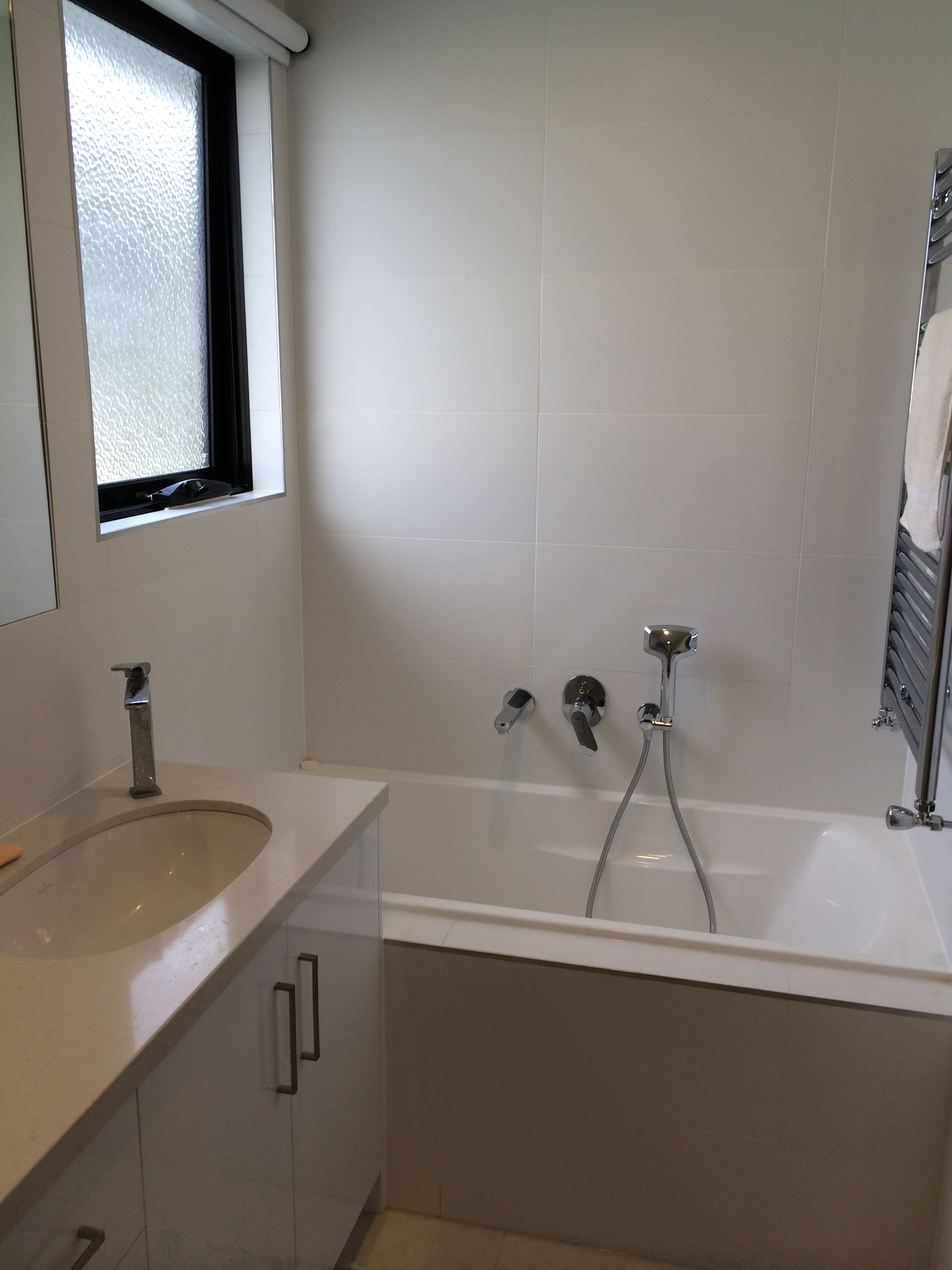 White bathroom for Bathroom specialists melbourne