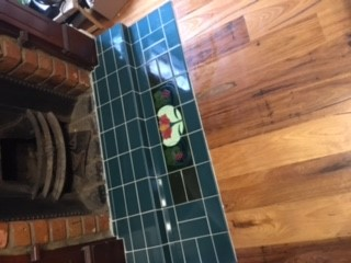 tiling of a fireplace hearth