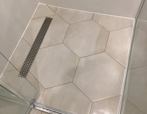 shower base tiling