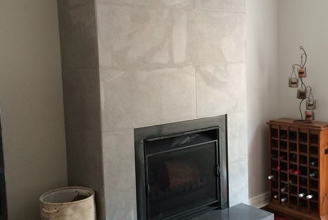 Tiled Fire place
